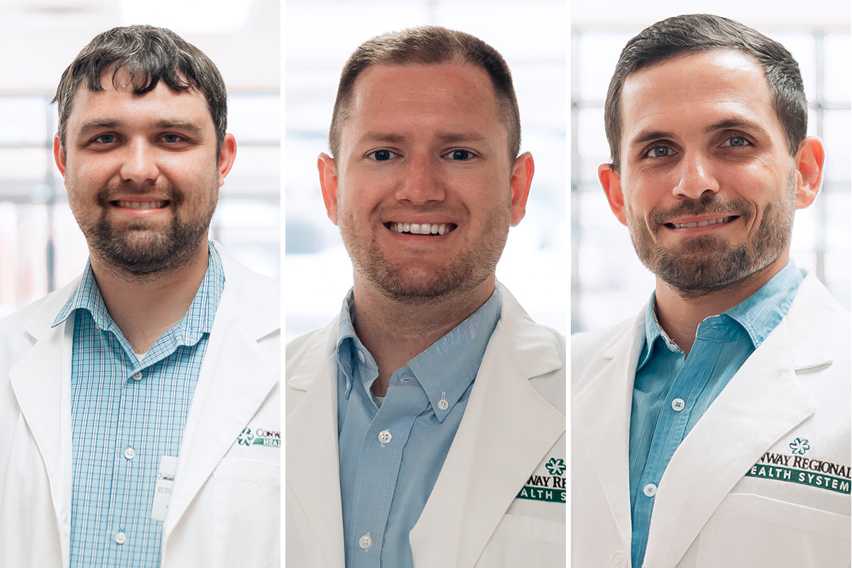 Dr.  Colton Kordsmeier, Dr.  Steven James and Dr.  William Crittenden of the Conway Regional Health System