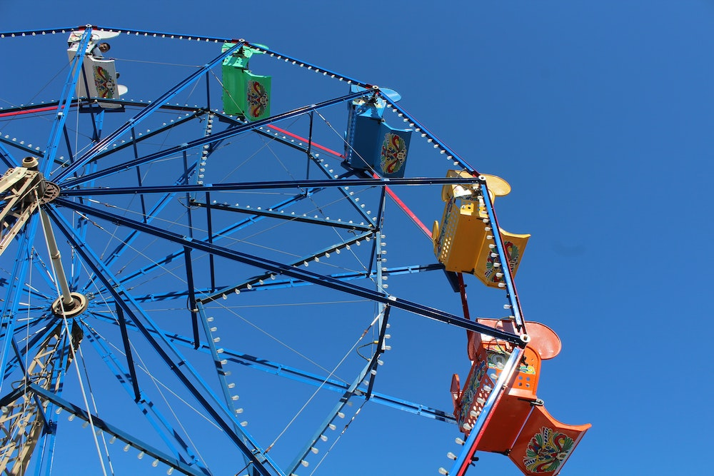 ferris wheel, fair, carnival