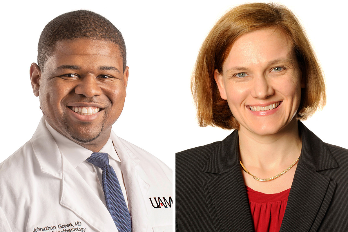 Dr. Johnathan H. Goree and Dr. Erika Petersen, both of UAMS in Little Rock