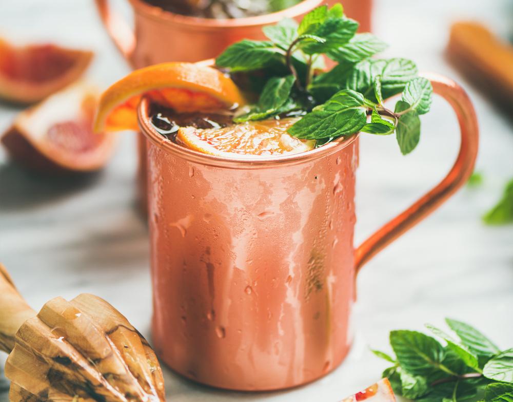Bourbon Mule Cocktail