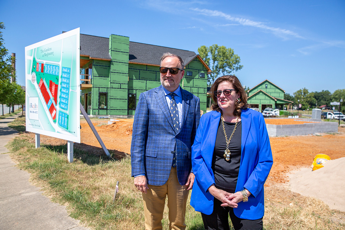 Jim Jackson and Lisa Ferrell, developers of Rockwater Village in North Little Rock, plan to add commercial projects to their residential-flavored endeavors near the Arkansas River.