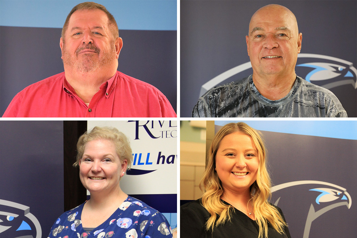 Clockwise from top left: Rick Barker, Charles Coe, Erin Faulkner and Amanda Plumley of Black River Technical College