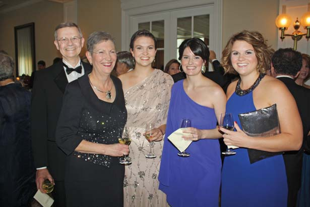Drs. Steve and Laura Hutchins with their daughters, Ellen Hutchins, Anne Olivier and Bethany Hutchins