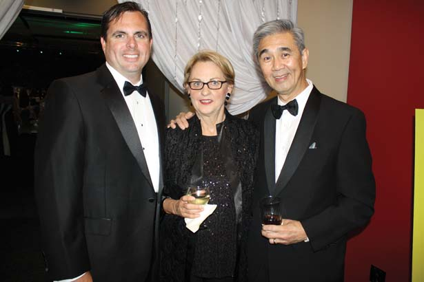 Robb Fiser with his mother, Charlotte Fiser, Dr. James Suen