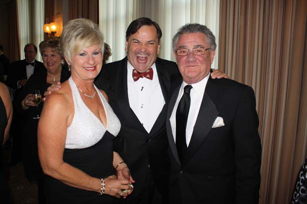 Marilyn and Richard Levy with George O'Connor (center)