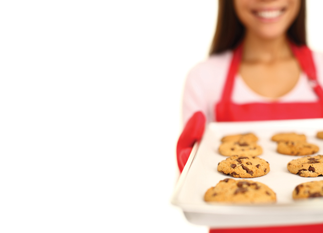 Tween girl cookies out of focus