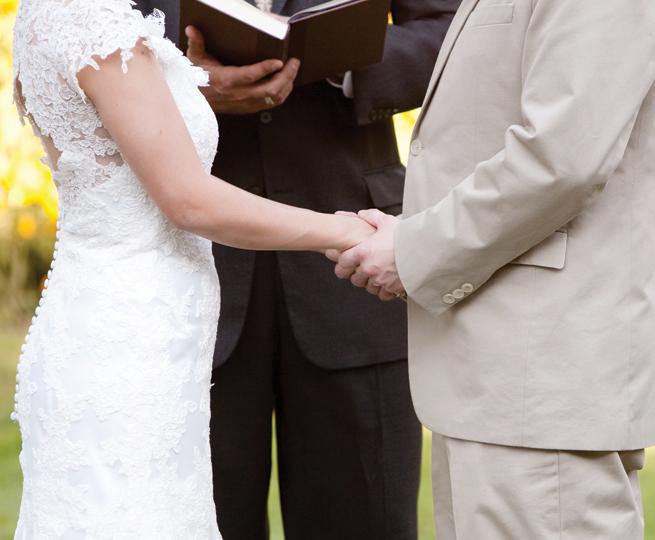 Marriage wedding bride groom officiant