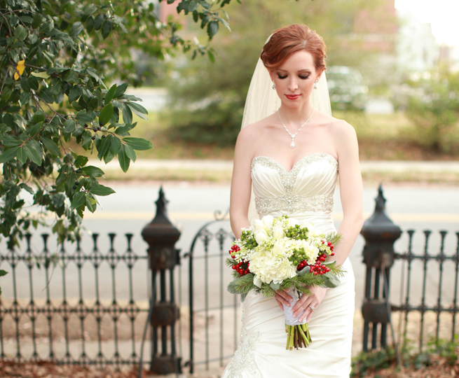 Real Arkansas Wedding Holly Humphries Christmas Themed
