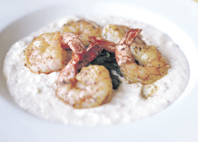 Afterthought Bistro & Bar's chipotle shrimp and Gorgonzola grits