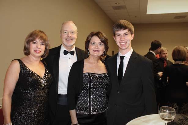 Brianne and Brian Bush, Sue and Christopher Faulkner