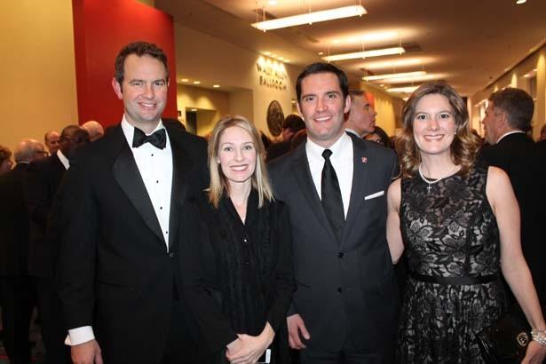 Andrew and Yvette Parker, Mark and Rebel Wilson