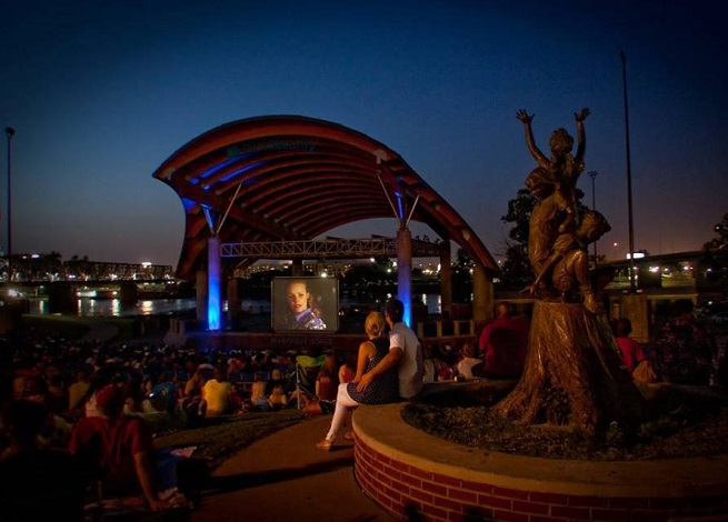 Movies in the Park, outdoor movie, First Security Amphitheatre