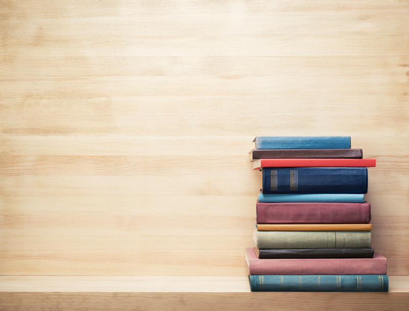 Books on a Shelf Stock