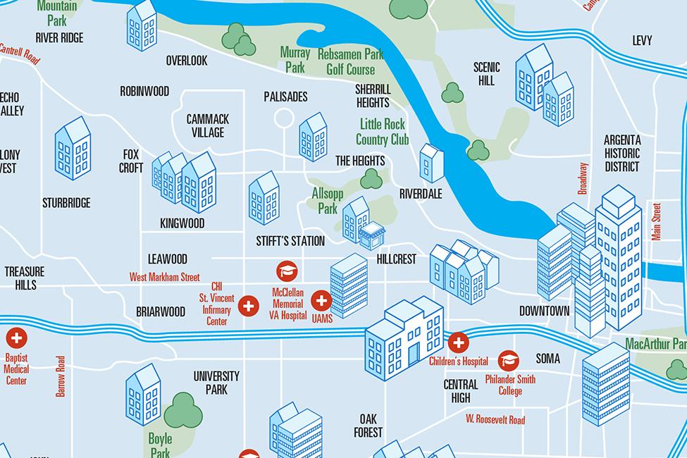 Metro Little ROck map