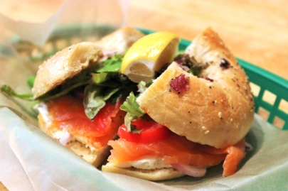 The Dish: Onion Bialy with Smoked Salmon at Boulevard Bread Company