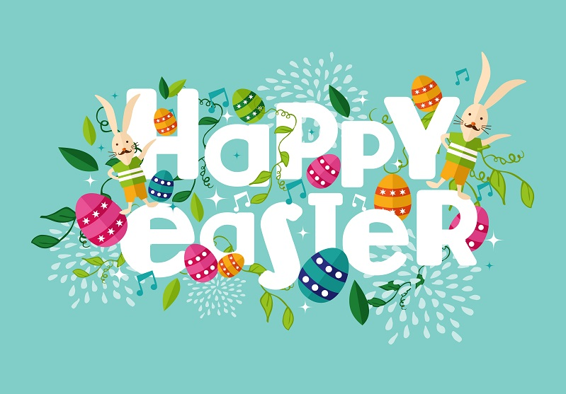 Happy Easter, Easter Bunny, Easter Eggs, Easter Illustration