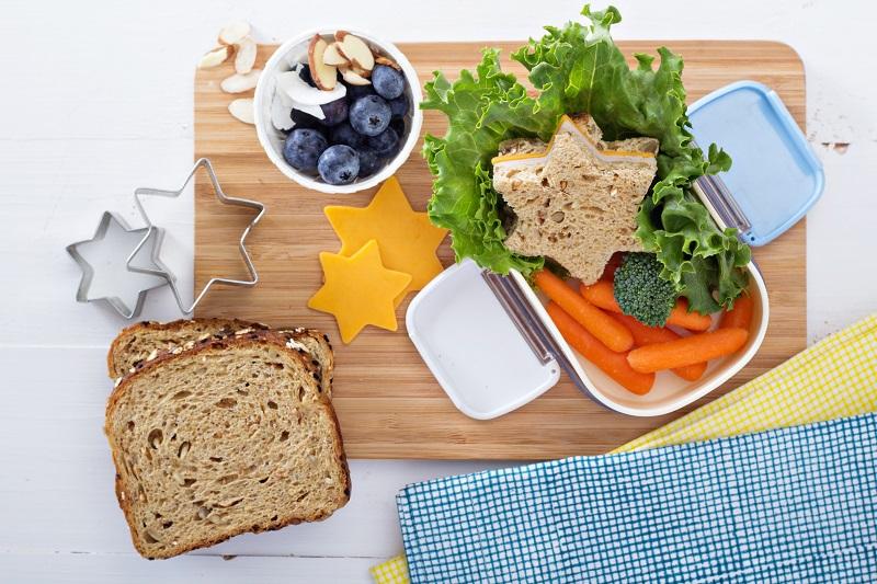 Healthy lunchbox, school lunch