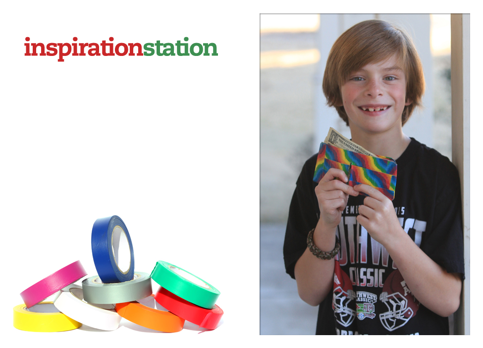 inspiration station snow days duct tape wallet kid