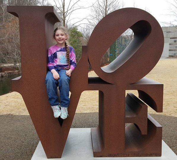 Love Sculpture, Crystal Bridges Museum of American Art, Kat Robinson, US Highway 71