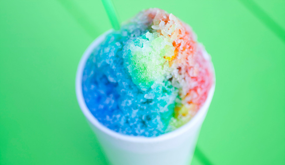 Rainbow Shaved Ice from Cozy's Shaved Ice