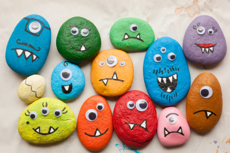 kids can paint rocks with scavenger hunt group little rock family
