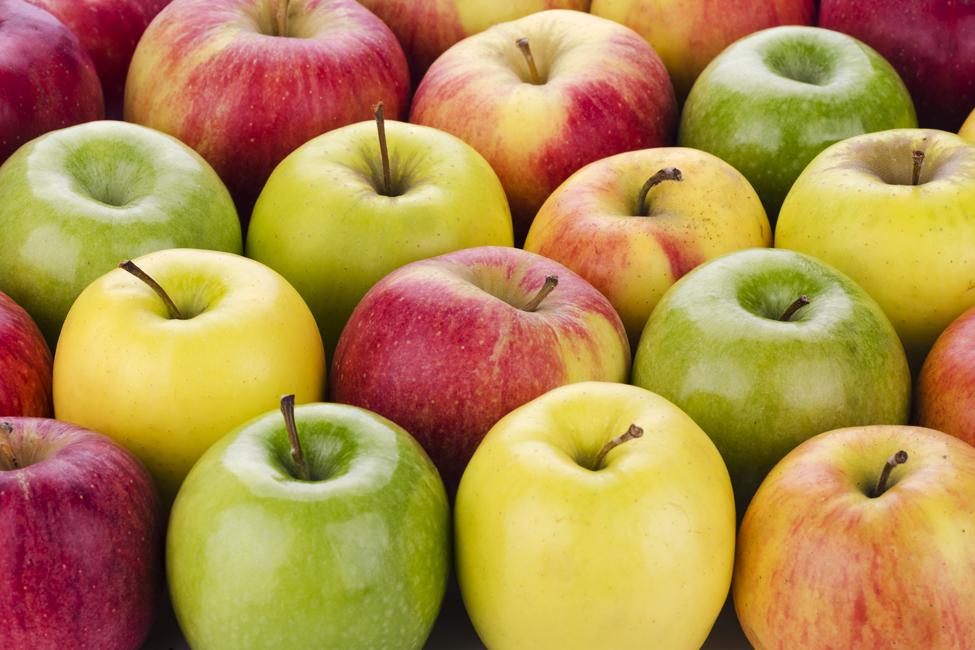 assorted variety of apples