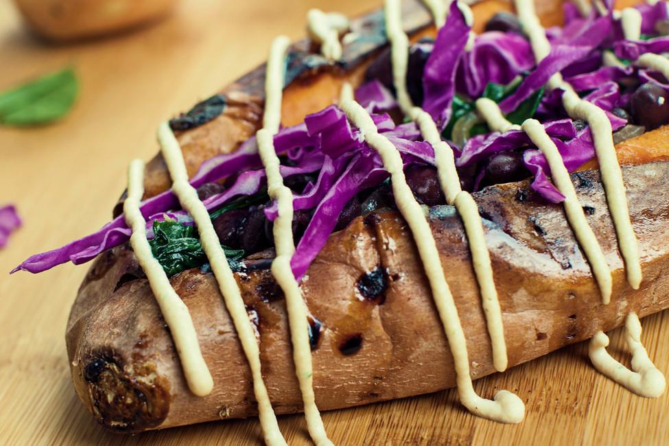 The Chef's Cookbook: Maria Larios of Viva Vegan stuffed sweet potatoes