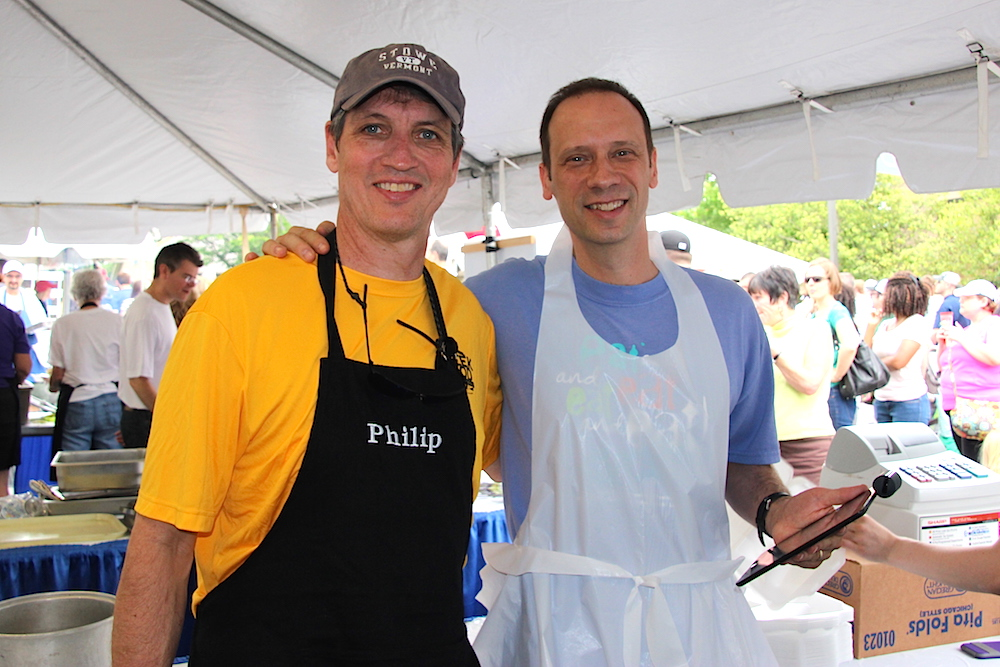 33rd annual International Greek Food Festival co-chairs Philip Miron and Kevin Wilcox