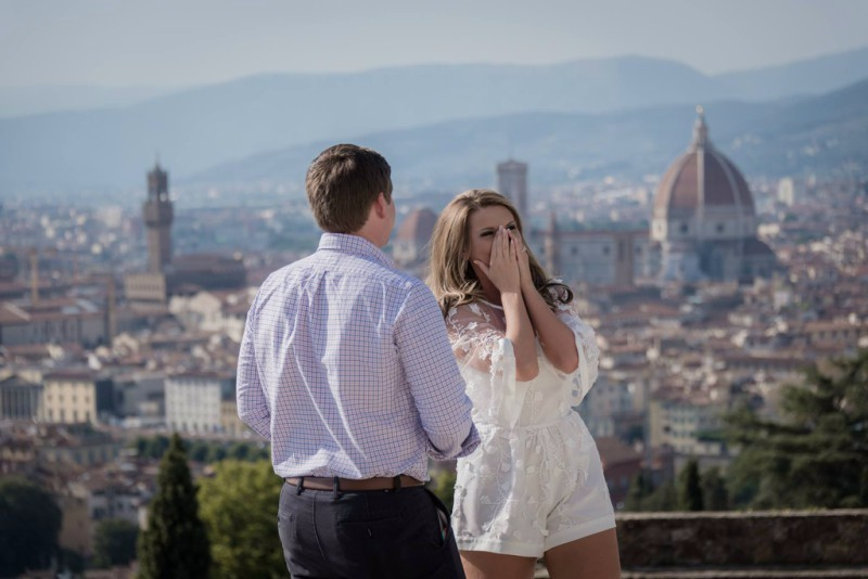 Lonoke Engagement in Florence, Italy: Erica + Grant