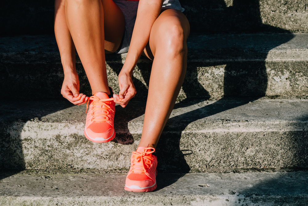 tennis shoes, sneakers, workout, runner, running, exercise