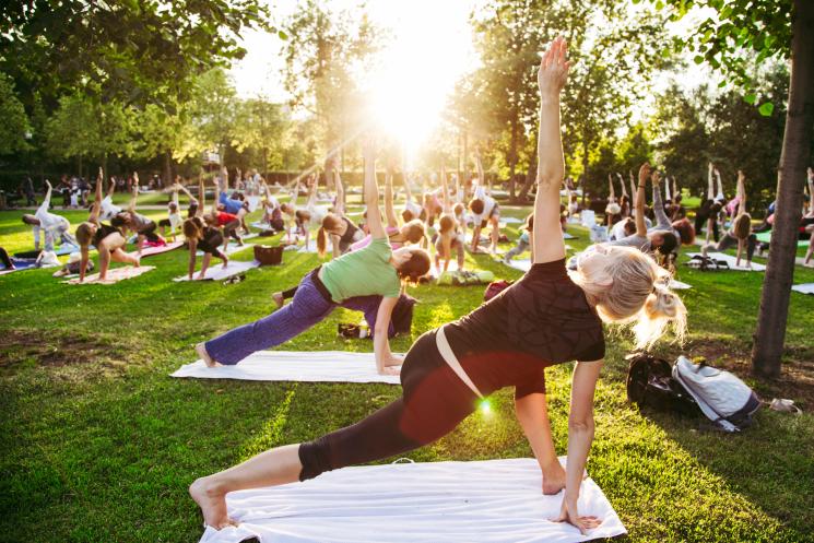 outdoor yoga shutterstock