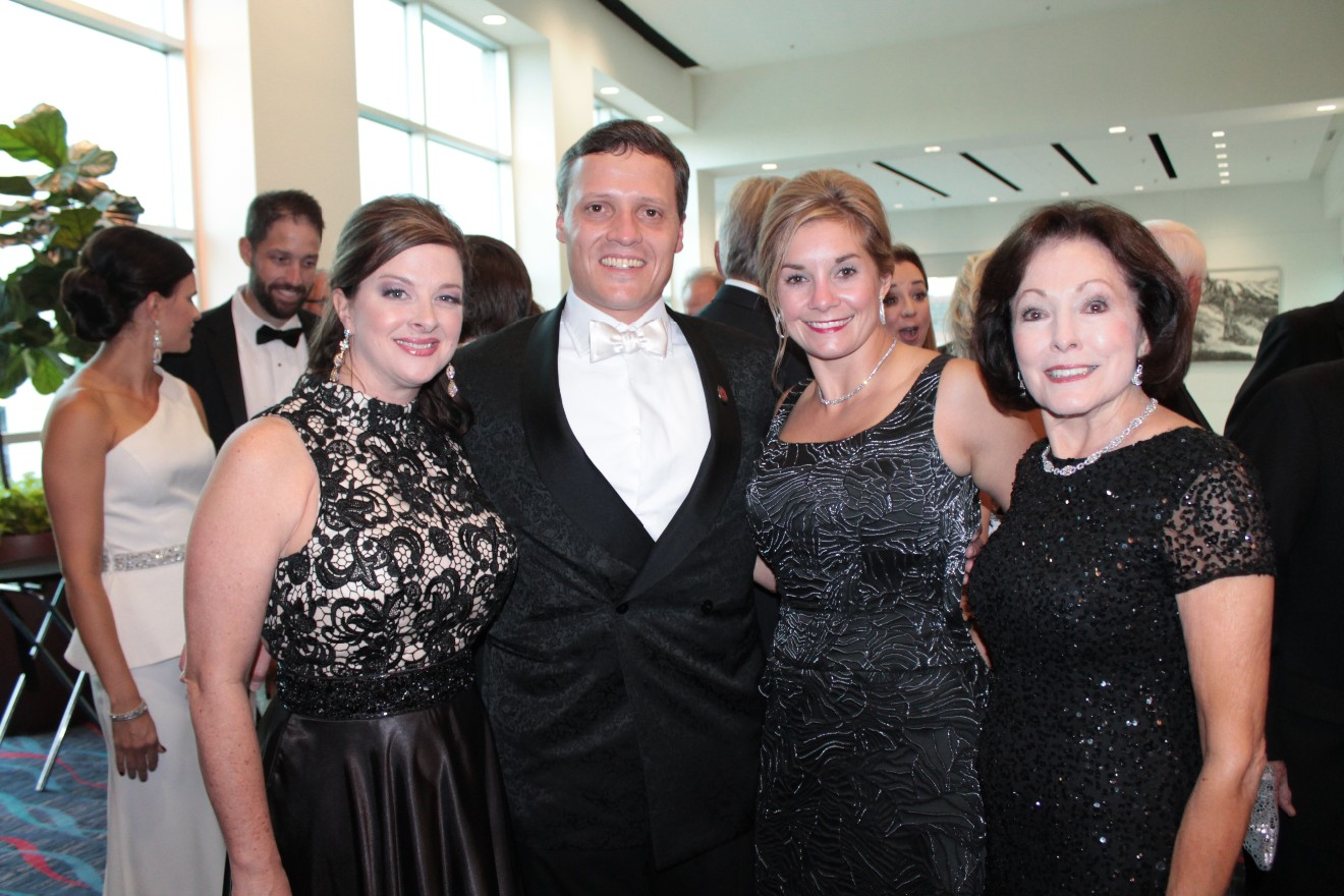 Vicky Morris, Win and Natalie Rockefeller, Gloria Redman