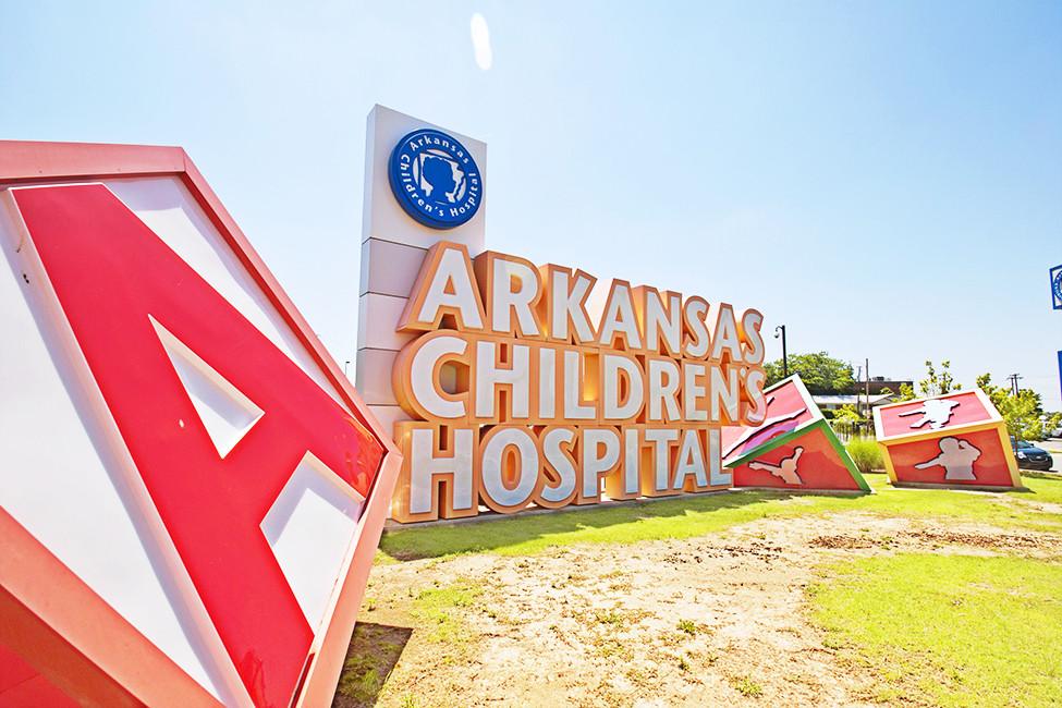 LRF DEC17 Arkansas Children's Hospital front entrance sign