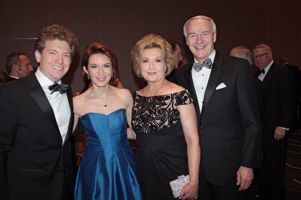 Philip and Tatiana Mann, Susan and Asa Hutchinson