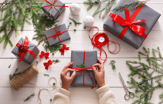 christmas gift, present, wrapping, holiday, package
