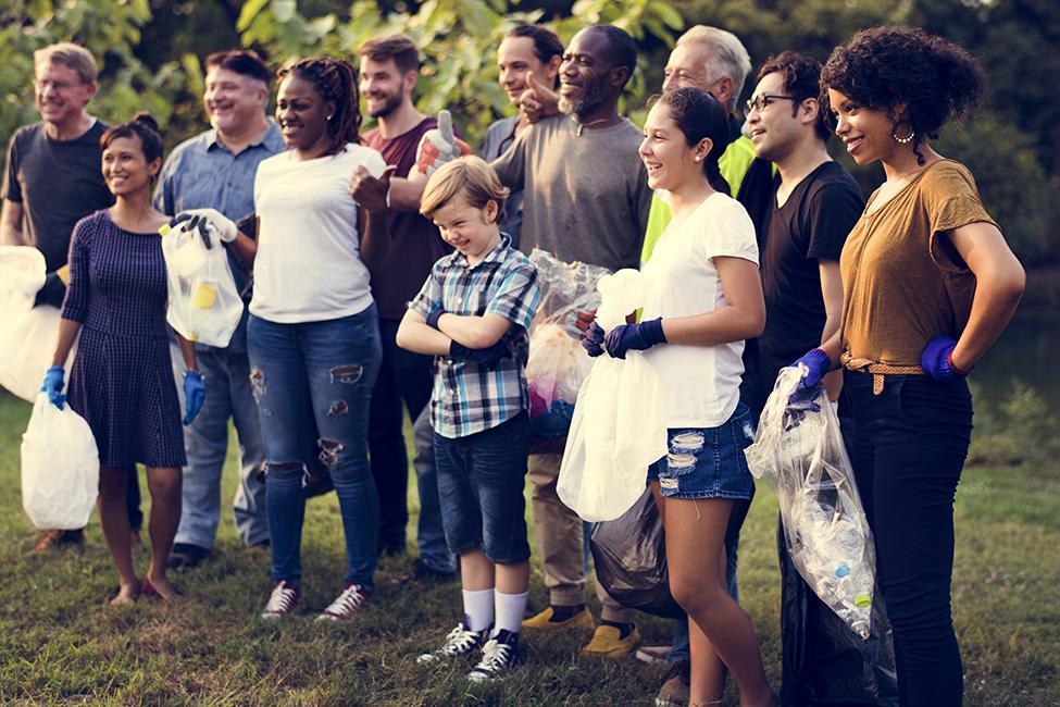 diverse neighborhood group people clean up shutterstock