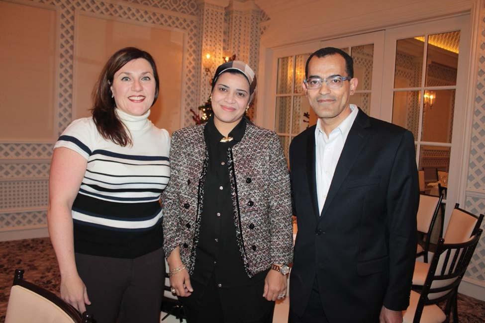 Dr. Kristen Lienhart, Heba and Dr. Mohomed Tolba