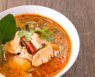 Recipe: Thai Coconut Chicken Soup from Trio's