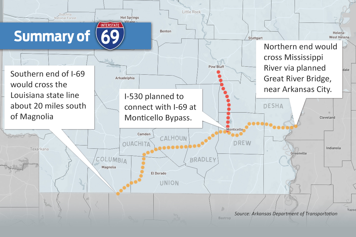 I69 Arkansas Map.Delta Still Waits For I 69 Game Changer Arkansas Business News