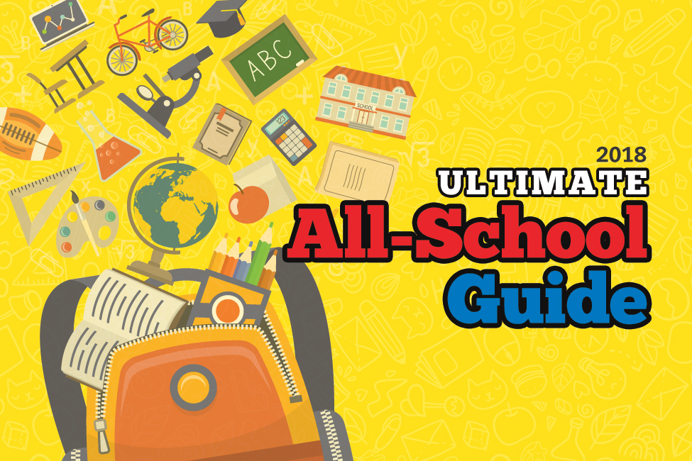 LR Family 2018 Ultimate All-School Guide title yellow
