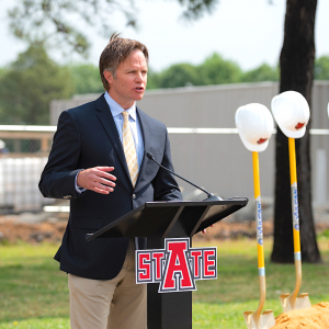 A-State Marks Construction Start for Red Wolf Convention Center