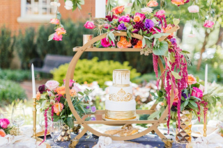 Opulent Garden Styled Shoot at the Fayetteville Town Square