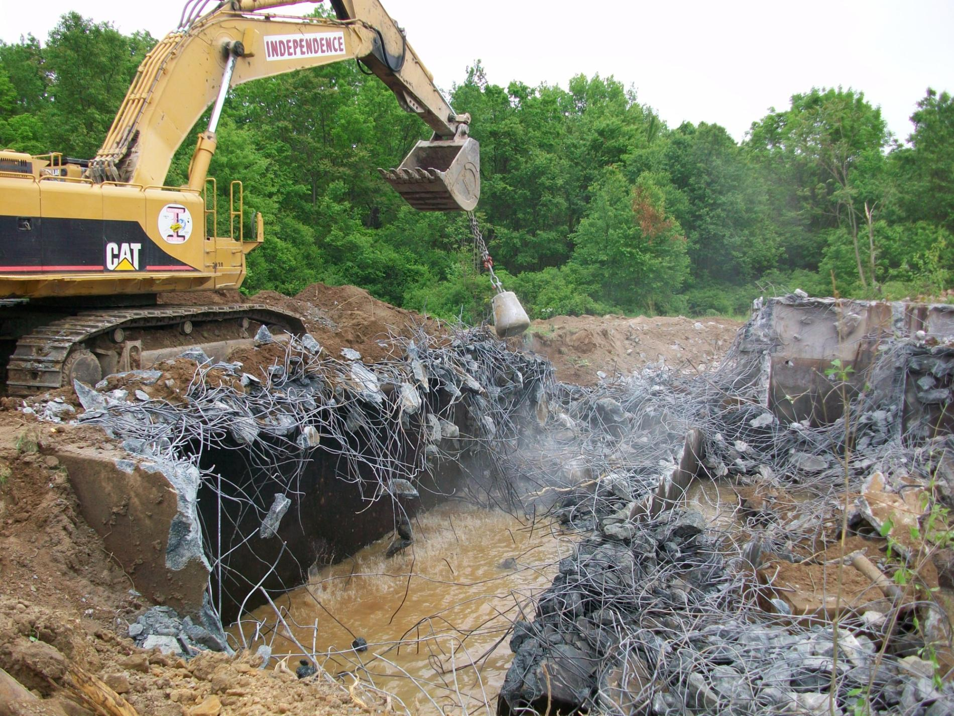 Concrete Crushing/Recycling - Independence Demolition