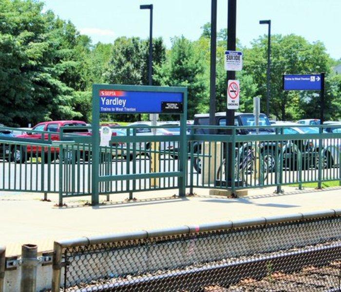 Yardley train station platform
