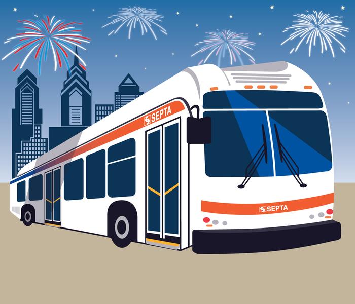 Fireworks bus