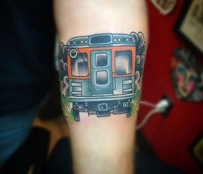 Broad street line tattoo 2