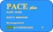 Sample PACE card
