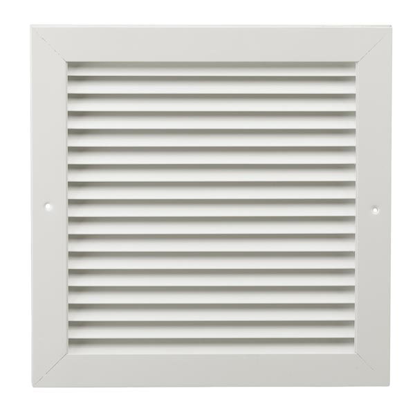 16x20 DGDFW White Door Grille - Opening Size 16x20 - Overall