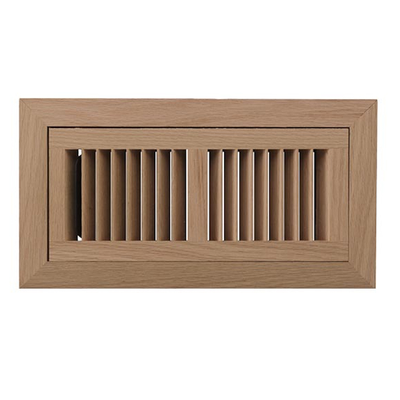 6x12 White Oak Flush Frame - Duct Opening Size 6x12 - Overall Size ...