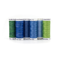 712-05 Sulky Sampler 12wt Cotton Petites 6//Pkg-Redwork Assortment